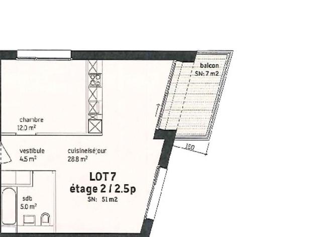 Ch. Roches 14, Lausanne - 2,5 pièces - Lot 7 20